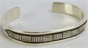 Bruce Morgan Navajo Sterling Silver Cuff Bracelet