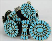 Sterling and Turquoise Statement Concho Belt