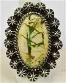 Robert Shakey Ribbon Turquoise Sterling Ring