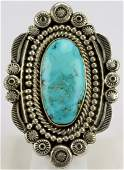 Wallace Yazzie Jr Masterpiece Turquoise Ring