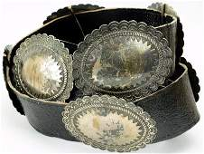 Navajo Silver Old Pawn Concho Belt