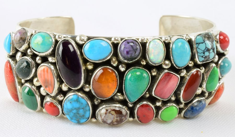 Emer Thompson Sterling Multi-Stone Cuff Bracelet