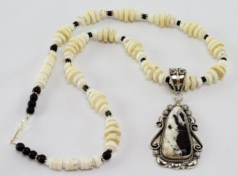 Robert Shakey White Buffalo Pendant Necklace