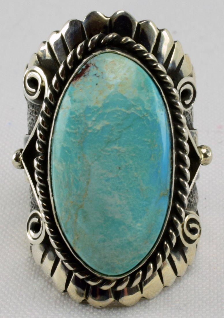 Lorenzo James Blue Gem Turquoise Men's Ring