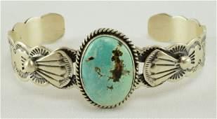 Navajo, Lorenzo James Sterling Silver Bracelet