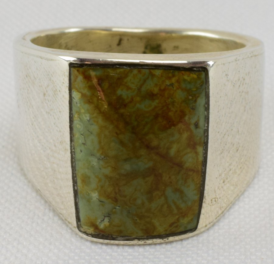 iNavajo, Sterling Nevada Green Turquoise Men's Ring