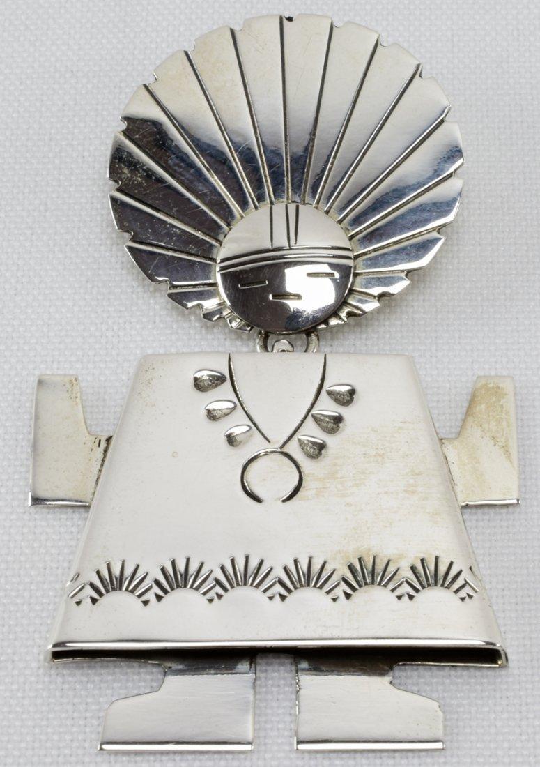 Navajo Sterling Silver Stamped Kachina Pin/Pendant