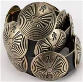 Vintage Man in the Maze Concho Belt
