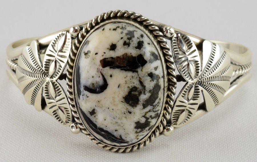 Mary Ann Spencer White Buffalo Turquoise Bracelet