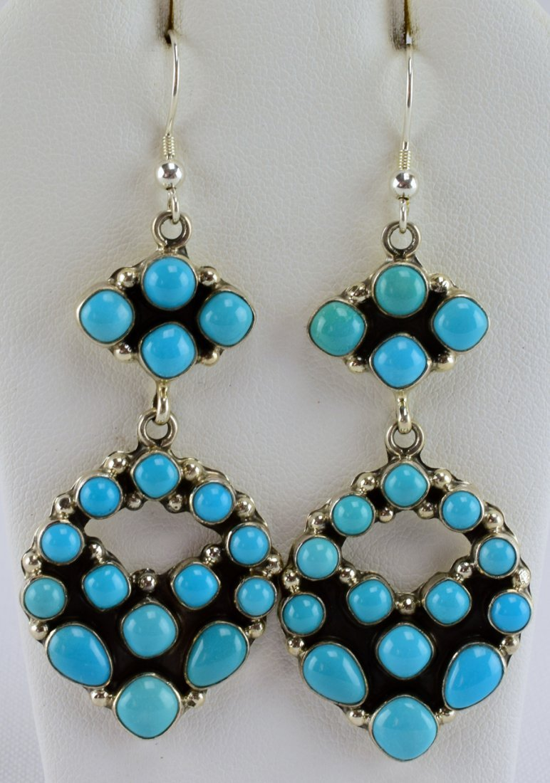Emma Lincoln Sterling Sleeping Beauty Turquoise Earring