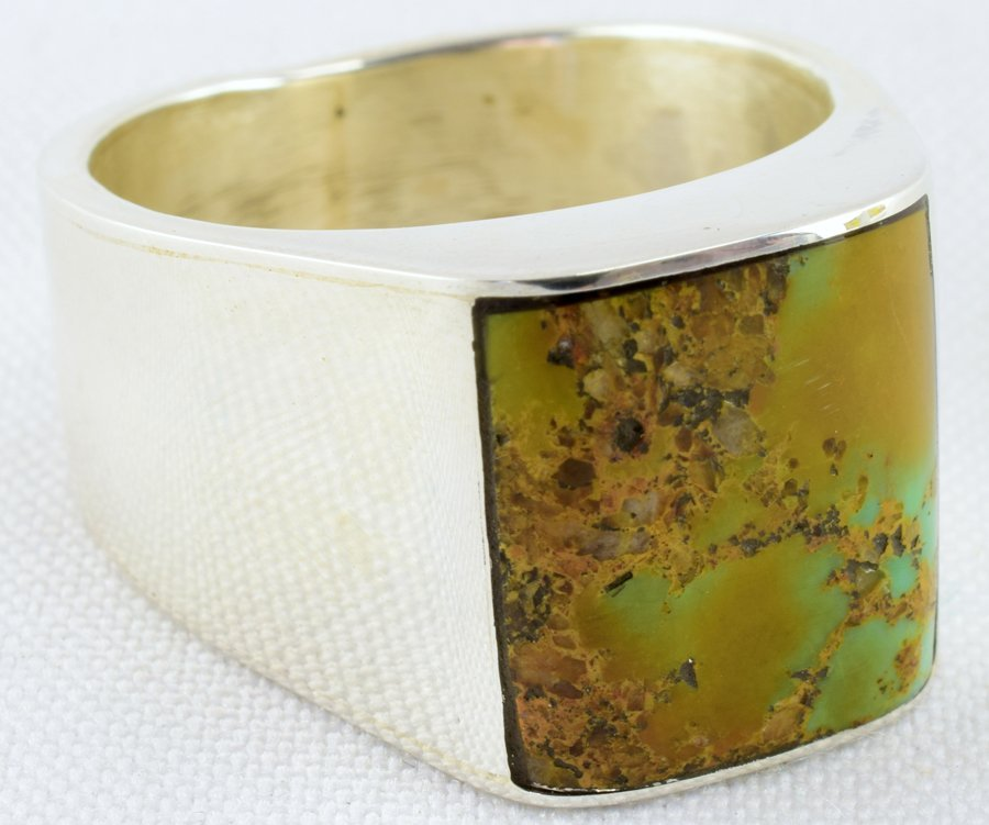 Navajo Sterling Silver Men's Turquoise Ring