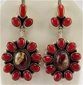 Harley Jake Mediterranean Coral & Wild Horse Earrings