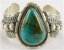 Navajo Sterling Silver Heavy Gauge Roystan Cuff