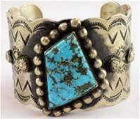 Navajo Sterling Blue Diamond Heavy Gauge Cuff