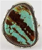 Navajo, Eddie Sacatero No.8 Turquoise Huge Bracelet