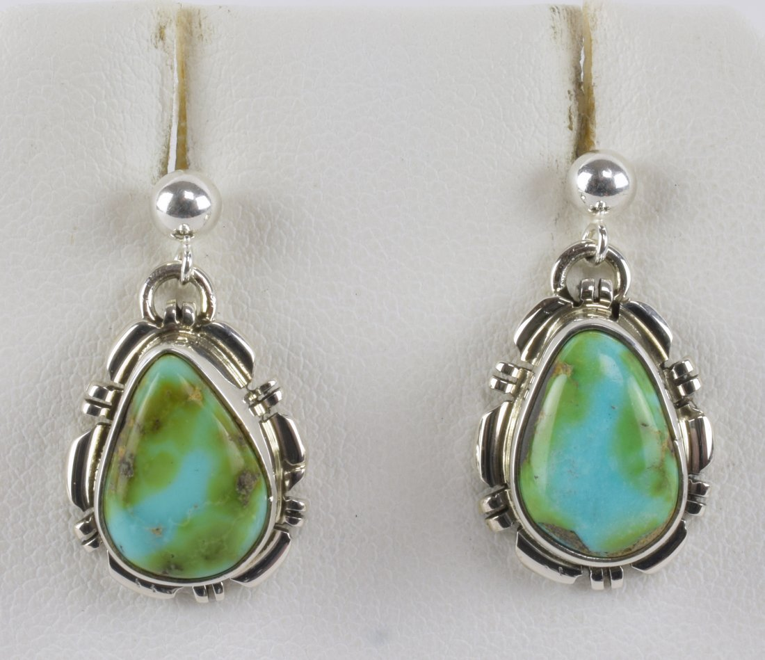 Navajo Sterling Sonoran Gold Turquoise Small Earrings