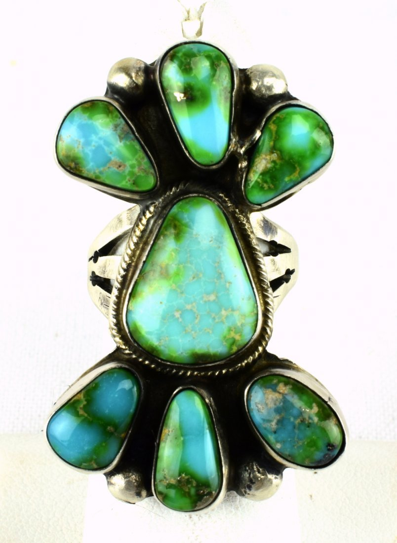Boyd Ashley Sterling Sonoran Gold Turquoise Ring