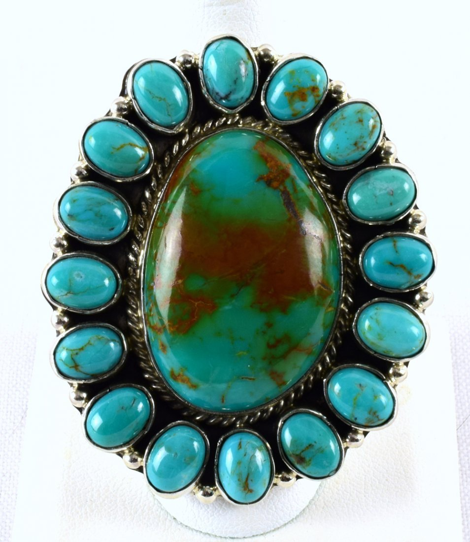 Geraldine James Sterling Royston Turquoise Ring