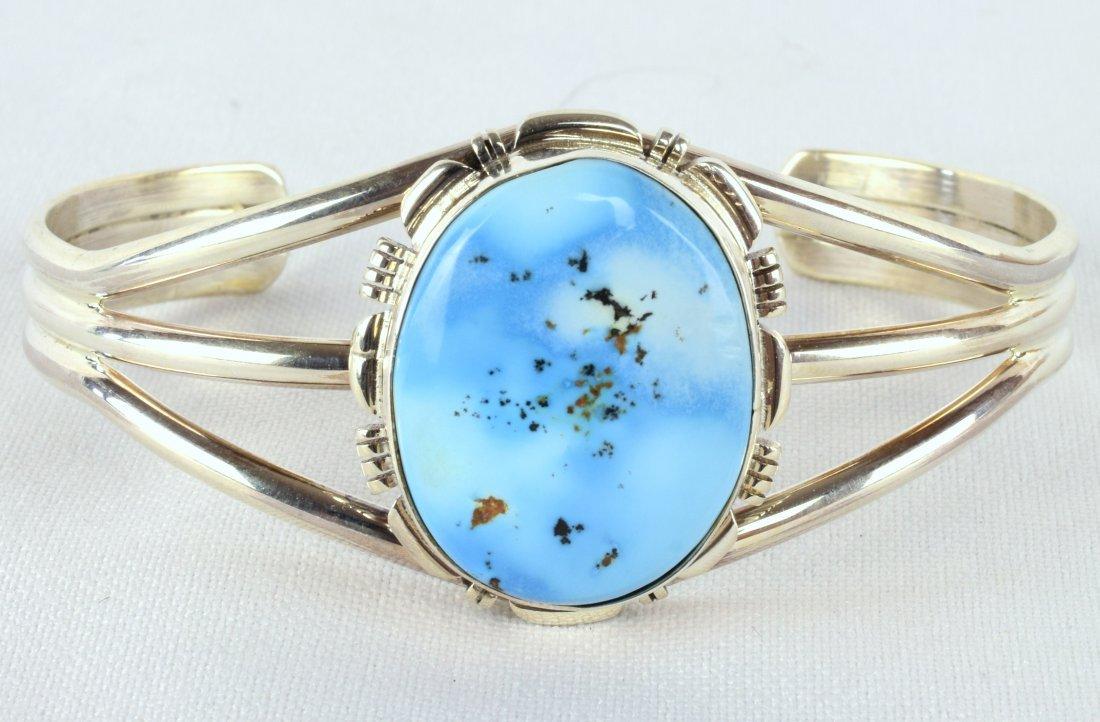 Navajo, Sterling Golden Hills Turquoise Bracelet