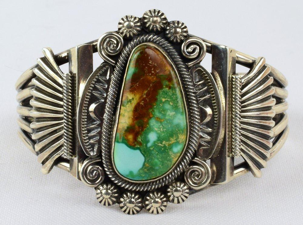 Leon Martinez Sterling Royston Turquoise Cuff Bracelet
