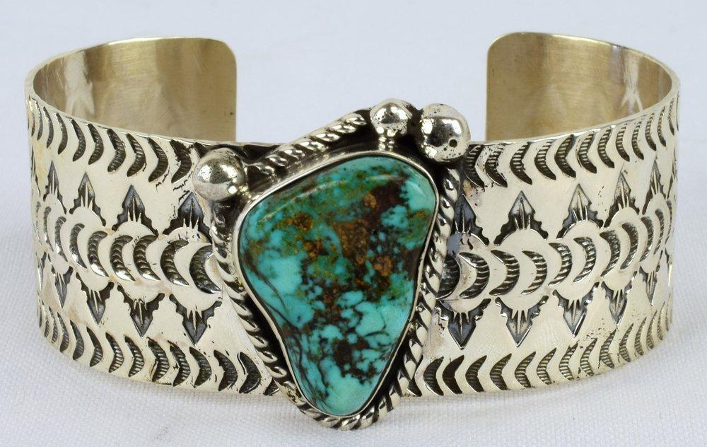 H. Joe Sterling Silver Sierra Nevada Turquoise Cuff
