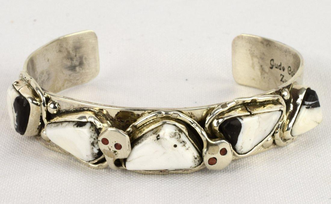 Jude Candelaria White Buffalo Turquoise Bracelet