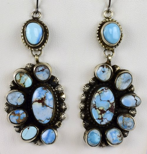 Ella Peters Sterling Golden Hills Lg. Turquoise Earring