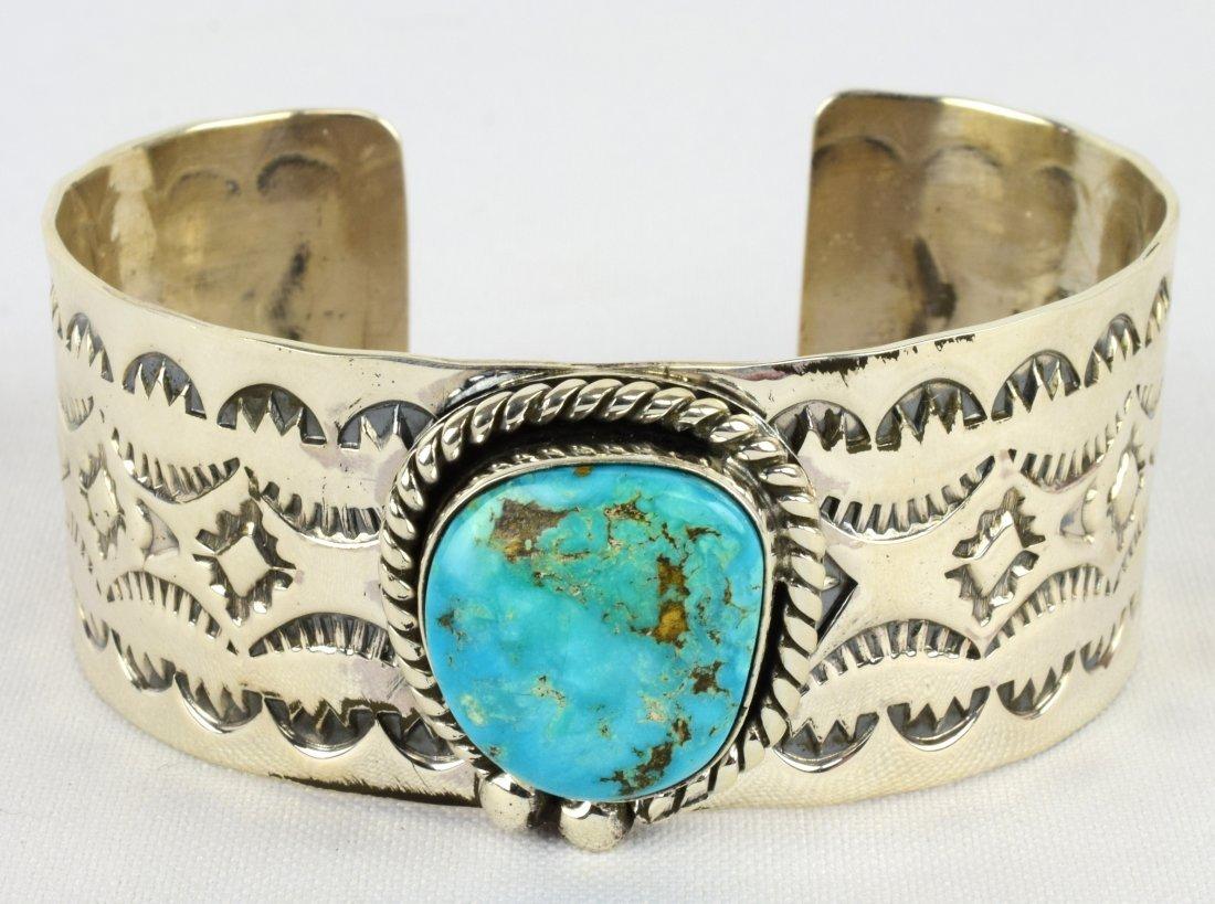 Harold Joe Sterling Turquoise Mtn. Turquoise Bracelet