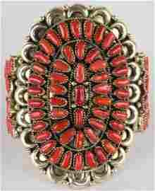 Justina Wilson Sterling Mediterranean Coral Cuff