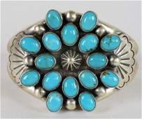 Vintage, Navajo Easter Blue Turquoise Bracelet