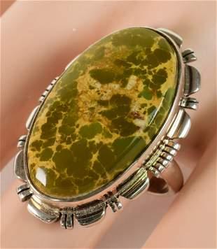 Navajo Orvil Jack Turquoise Sterling Women's Ring