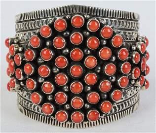 Donovan Cadman Sterling Mediterranean Coral Bracelet