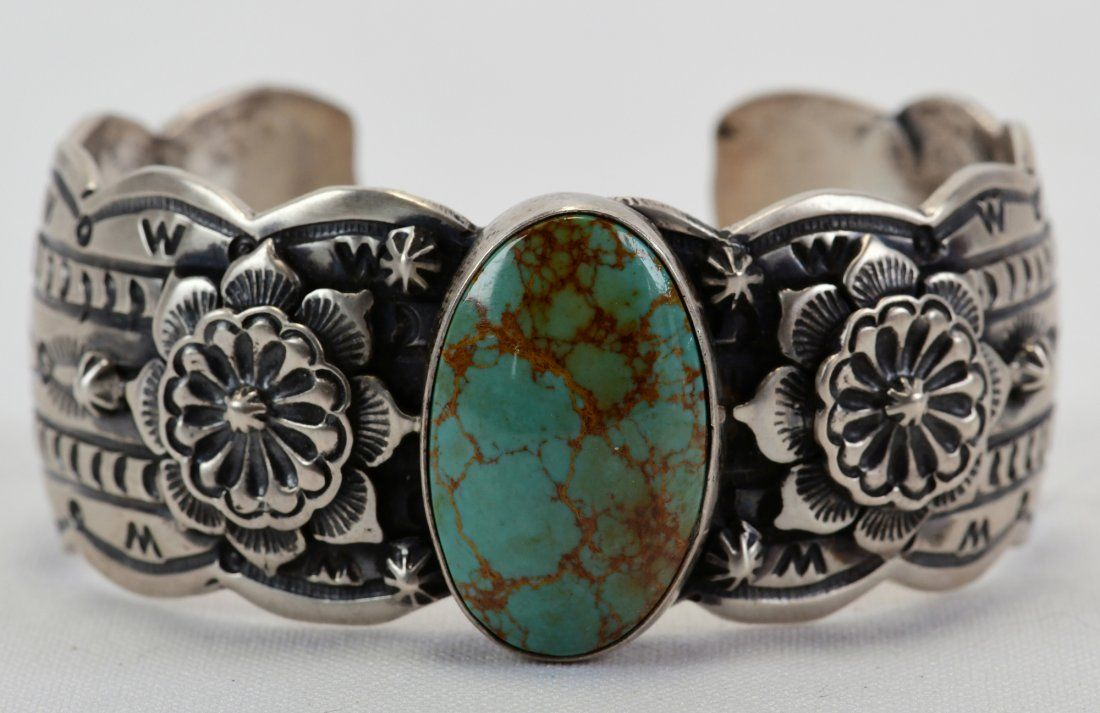 Marcella James Sterling Royston Turquoise Bracelet