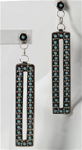 Joaan Cheama, Sterling Zuni Snake Eye Earrings