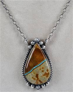 Augustine Largo Sterling Boulder Turquoise Necklace