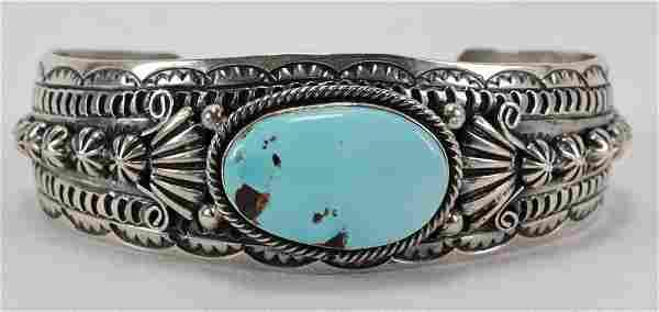 Marcella James Sterling Campitos Turquoise Bracelet