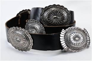 Marcella James Sterling Vintage Concho Belt