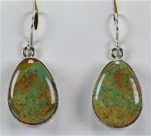 Navajo Sterling Silver Royston Turquoise Earrings