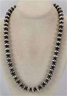 Native American Sterling Navajo Pearl Necklace