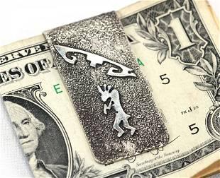 Navajo Sterling Silver over Nickel Kokopelli Money Clip