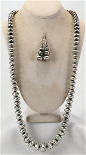 Sophia Becenti Stamped Bench Bead Necklace Set-36 in.