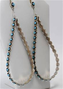 Zuni, K. Booqua Sterling Huge Snake Eye Earrings