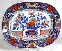 Imari Ironstone Platter, c.18 century, Hicks & Meigh UK