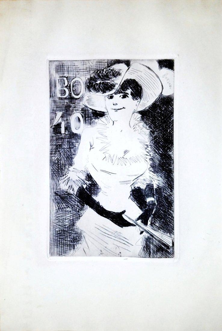 Jean Louis Forain: L'Ambulante. Etching. 1880, Paris