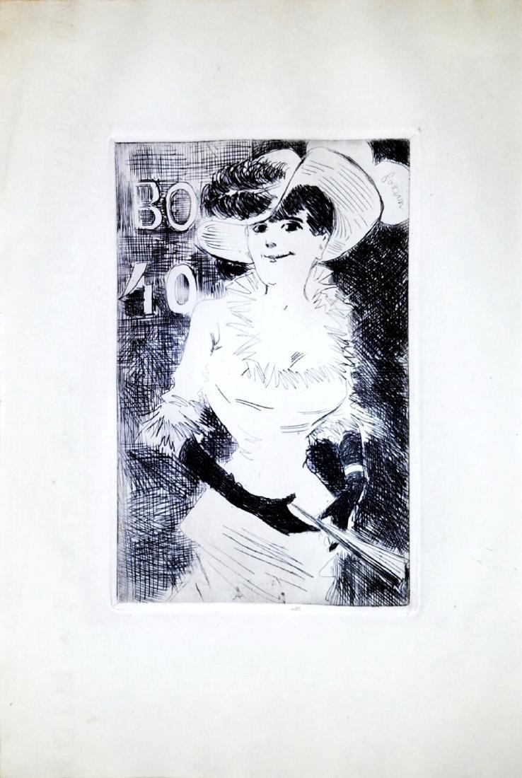 Jean Louis Forain: Ambulante. Etching. 1880, Paris