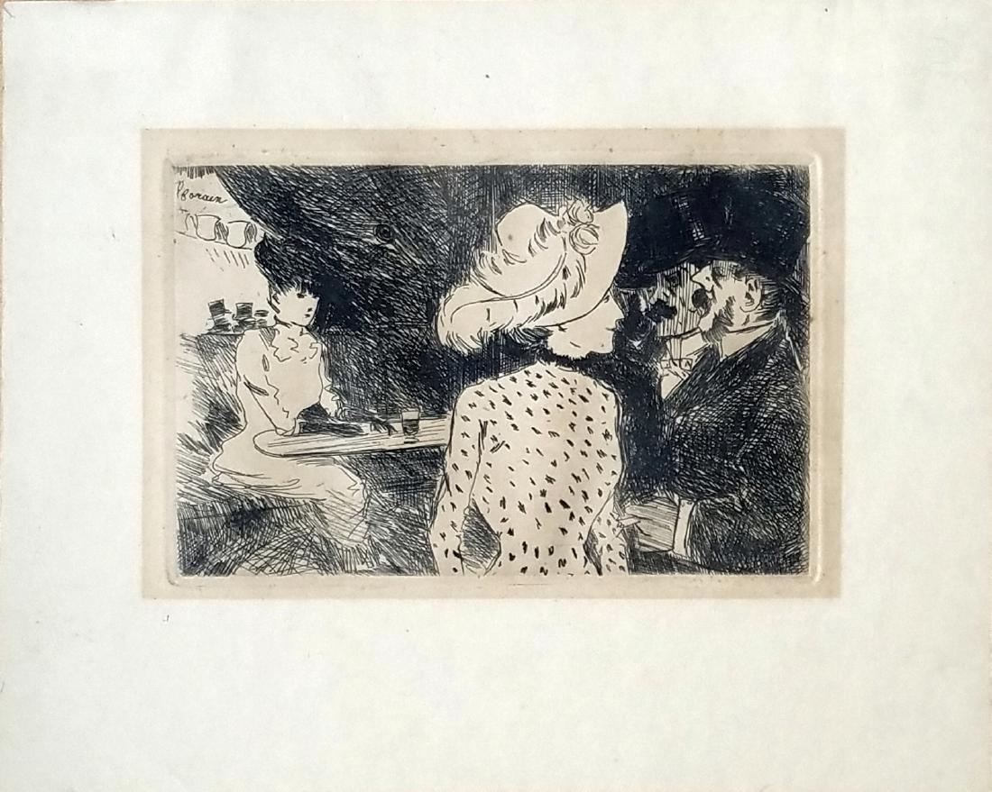 Jean Louis Forain: Les Folies Bergeres. 1880. Etching