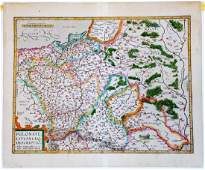 Ortelius Poland & Lithuania Antique Map. Antwerp, 1612