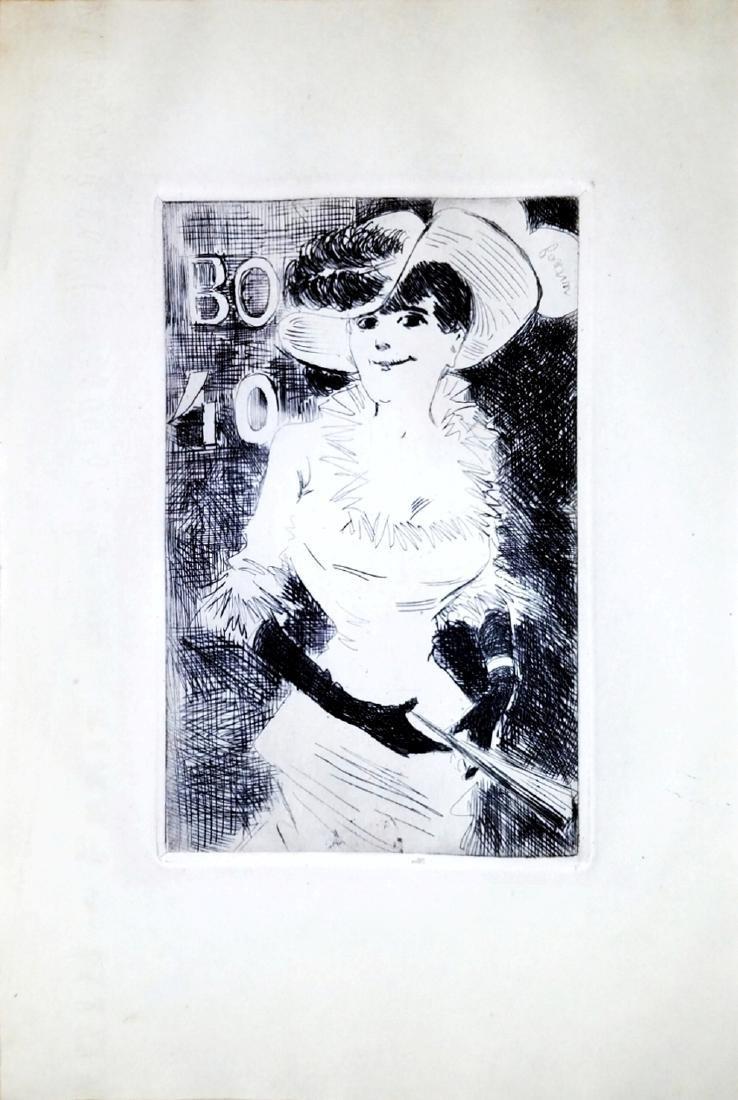 Jean-Louis Forain: Ambulante. Etching. 1880 Paris