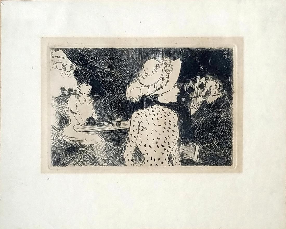 Jean-Louis Forain: Les Folies Bergeres. 1880. Etching