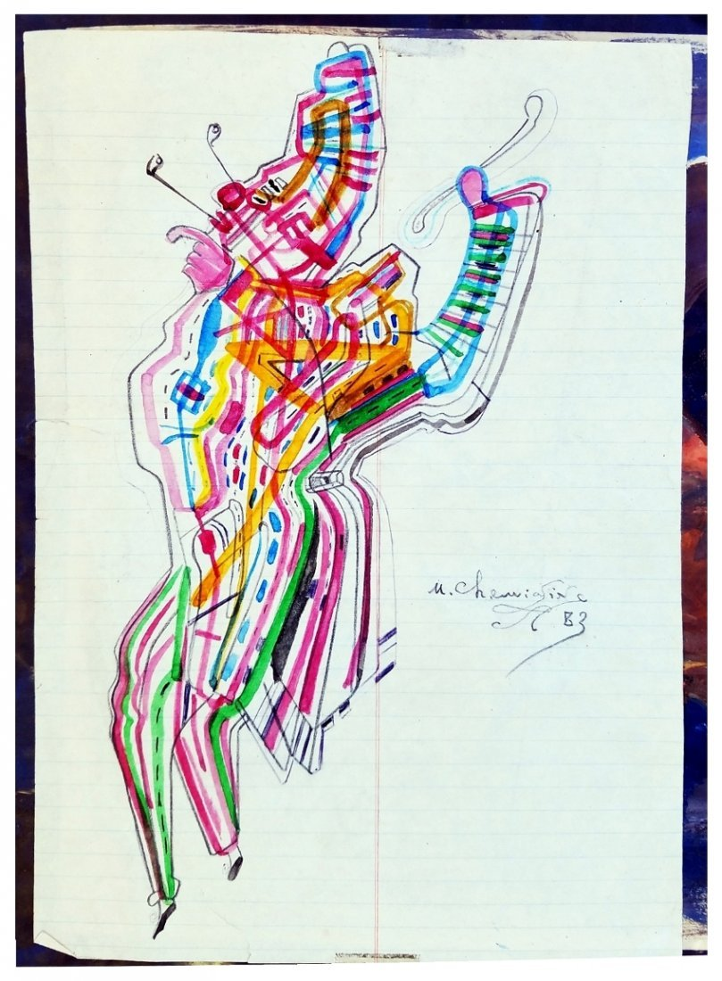 Mikhail Chemiakine: Theatrical Character Drawing. 1983